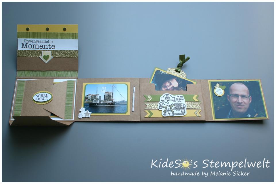 Minialbum Stampin' Up, Teil 2 innen, Kideso's Stempelwelt