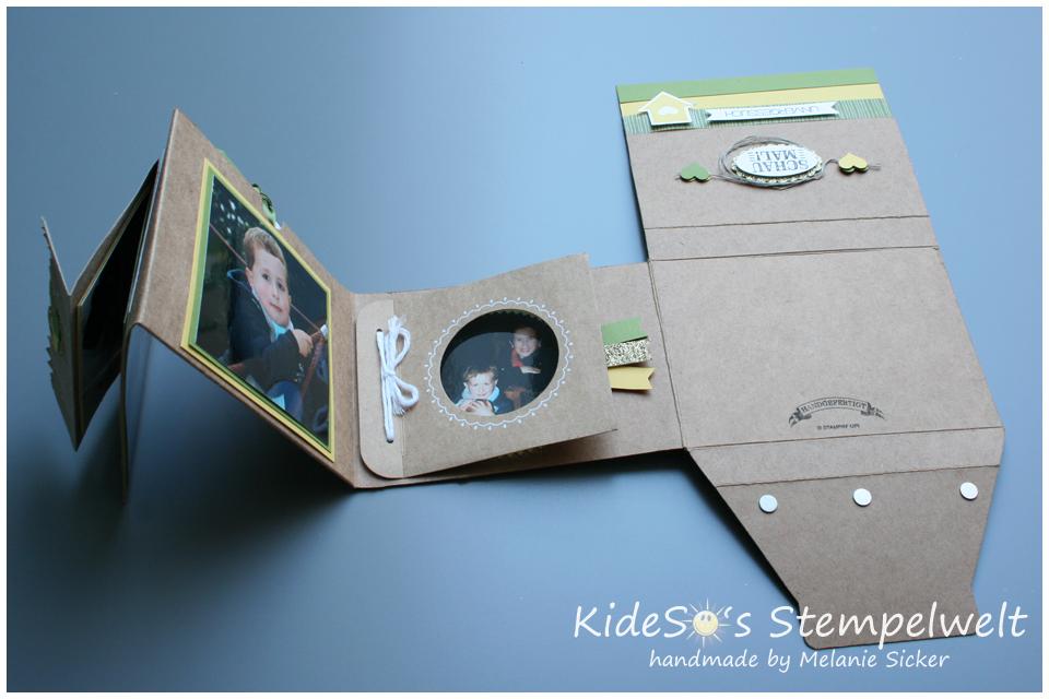 Minialbum Stampin' Up, Teil 3 innen, Kideso's Stempelwelt