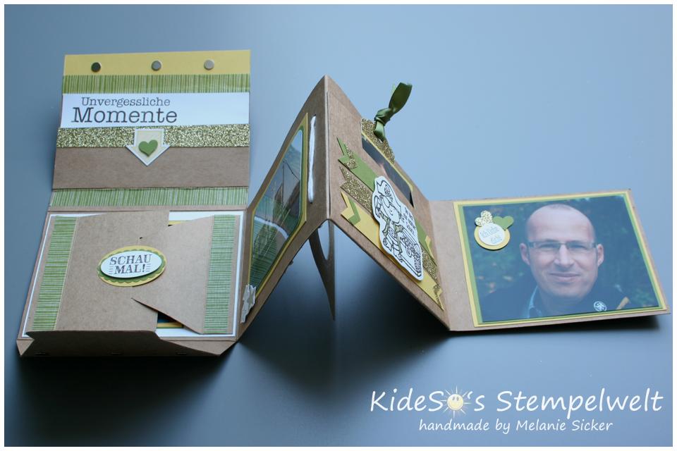 Minialbum Stampin' Up, Teil 4 innen geklappt, Kideso's Stempelwelt