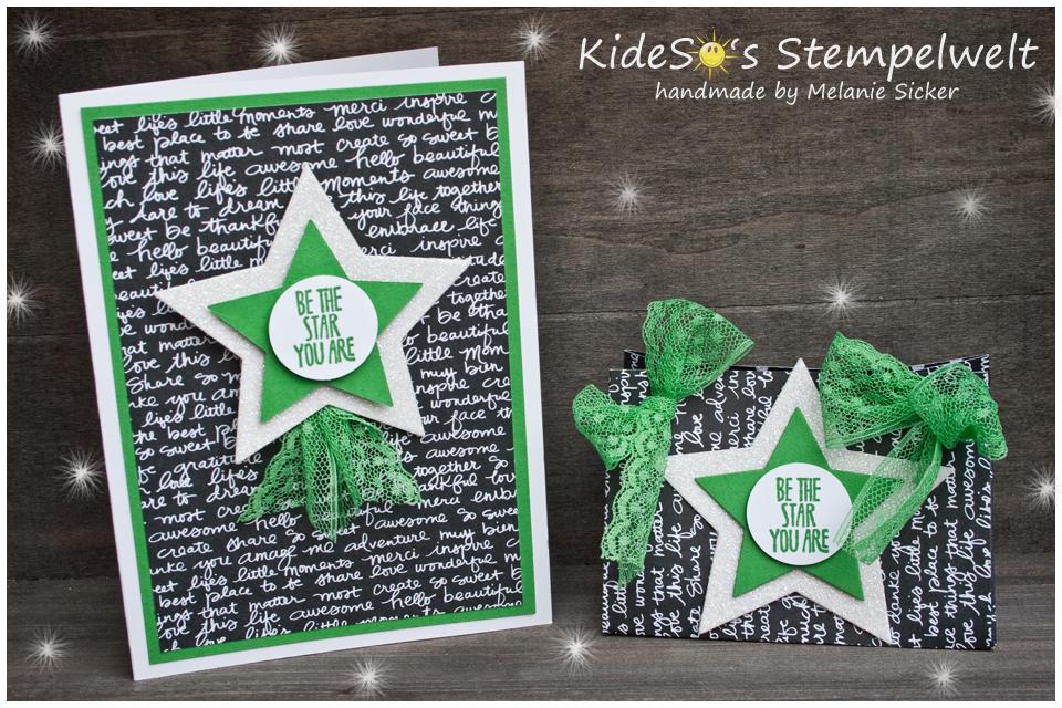 Be the Star, Stampin Up Bocholt, KideSo's Stempelwelt, Karte und Geschenktüte