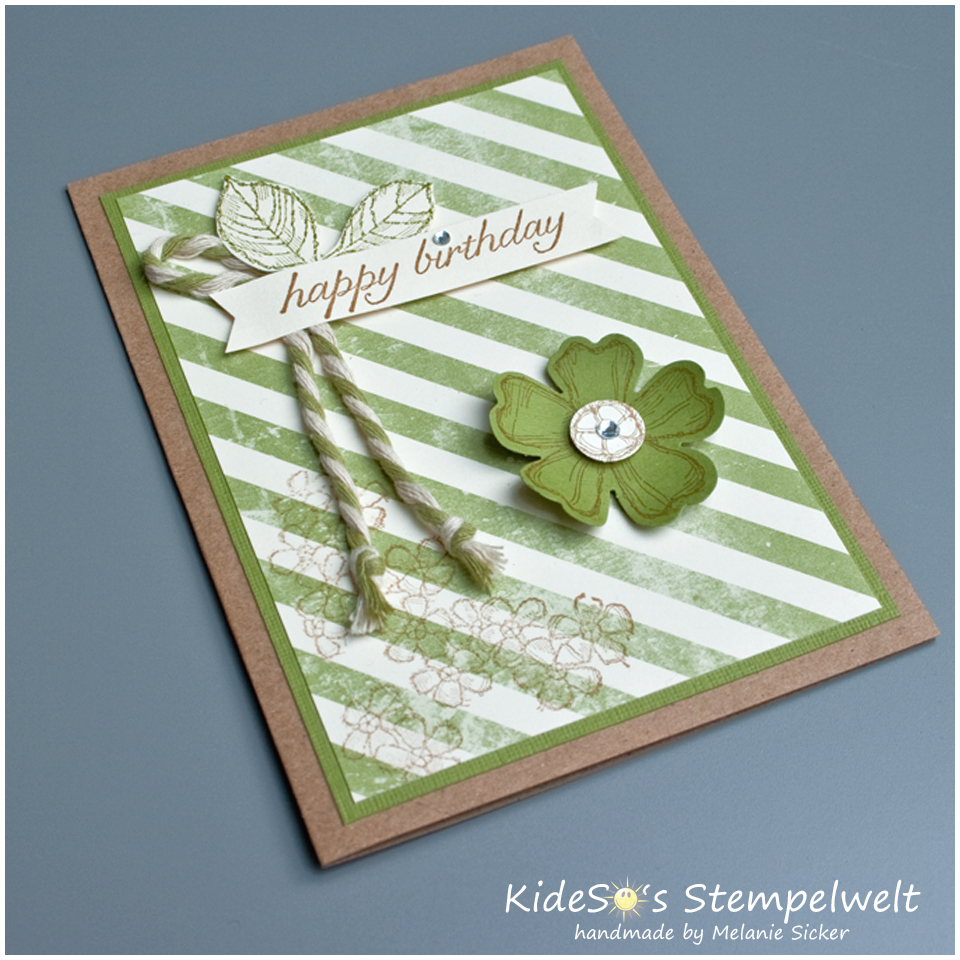 Birthday Blossoms, Stampin Up Bocholt, olivgrün