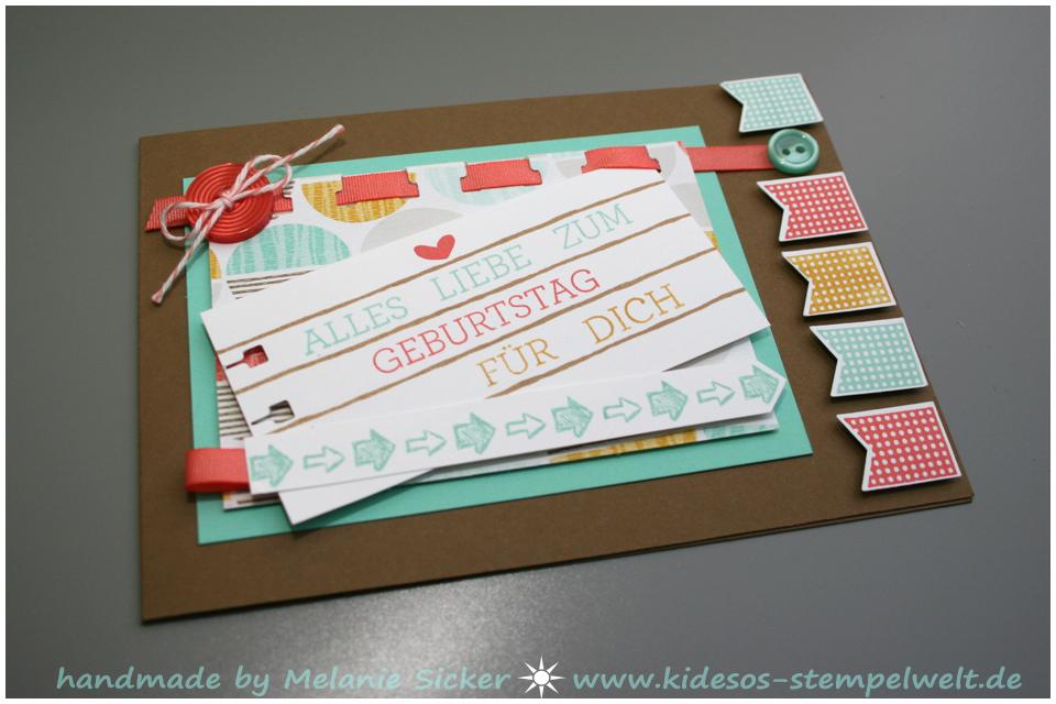 Du bist, Stampin' Up Bocholt, Geburtstagskarte