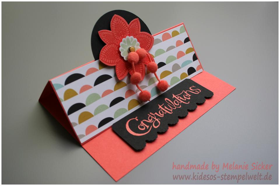 Faltkarte, Easel Card, Sassy Salutations