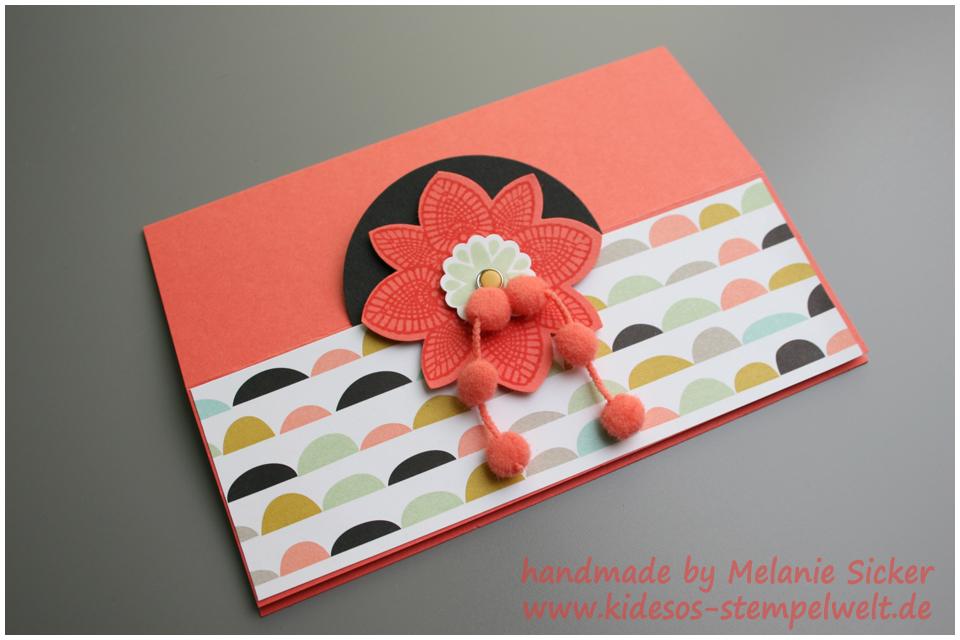 Faltkarte, Easel card, Petal Potpourri, Kidesos Stempelwelt