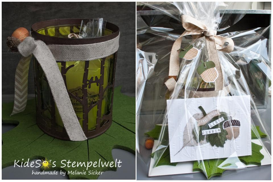Geschenk, Karte Vintage Leaves, Woodland Textures, Im Wald, Stampin Up Bocholt