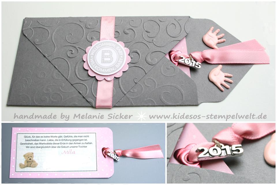 Umschlag Envelope Punch Board, Baby, Kidesos Stempelwelt