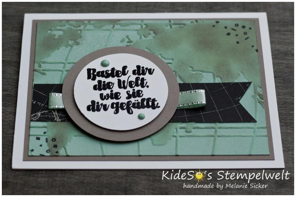 Weltkarte Stampin Up Bocholt, Kidesos Stempelwelt