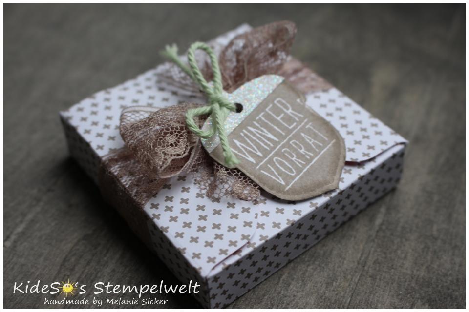 Herbstgrüße, Goodie mit Envelope Punch Board, Eichelstanze