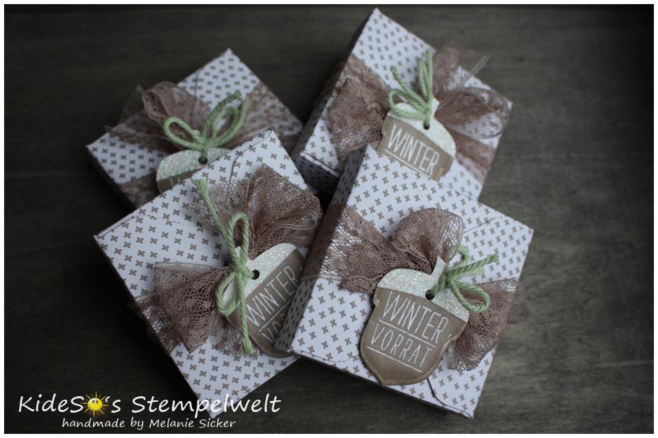 Herbstgrüße, Goodie mit Envelope Punch Board