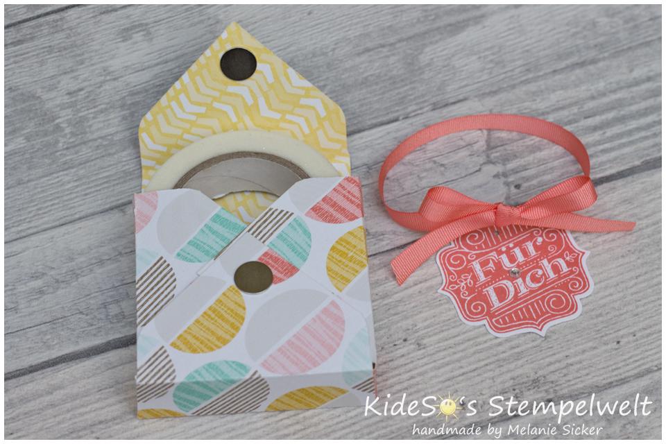 Verpackung mit Envelope Punch Board Stampin' Up, Fürs Etikett