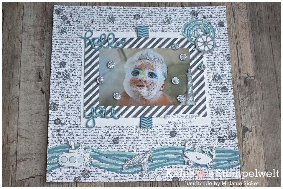 Scrapbook Layout You're sublime Stampin' UP